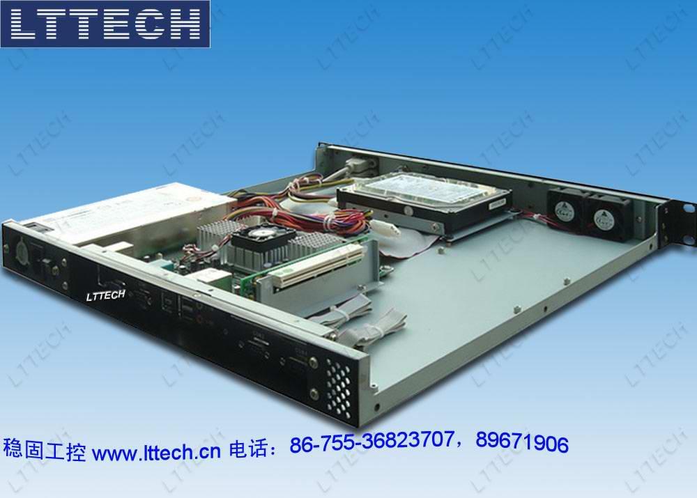 "LT6112是19""机架安装工业电脑机箱,专为关键任务应用而设计。这款结构稳固的全钢机箱符合EIA RS-310 19""上架式标准。此机箱可容纳一个6槽PCI/ISA总线无源底板,支持Mini-ITX主板和多种3槽蝶型背板,3槽工业底板,支持多种PICMG工业主板,并支持各种电源(灵活的机械设计可使系统通过变更电源托架来使用单个PS /2电源)。2个可提供足够冷却能力的易维护的42-CFM 冷却风扇,能够使整个机箱内的空气保持正压。一个前置热插拔过滤装置,易于清洁维护。通过其螺丝夹和防"