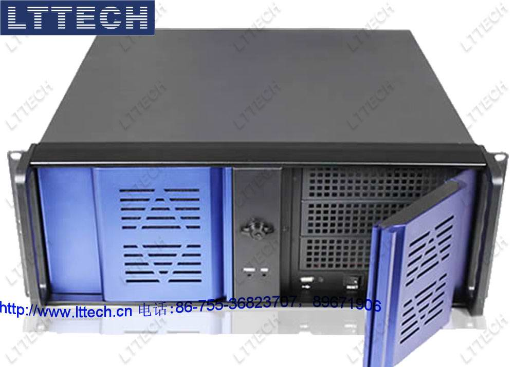 "LTS44883是19""机架安装工业电脑机箱,专为关键任务应用而设计。铝镁合金网孔双开前门,一揽子解决机械保护、通风散热、外部观察机器运行状态三方面的使用要求;外观高贵典雅,工艺精湛、尺寸精密,极富时代气息,为您的工程增添价值;这款结构稳固的全钢机箱符合EIA RS-310 19""上架式标准。此机箱可容纳一个14槽PCI/ISA总线无源底板或者标准ATX主板(最高可支持14个扩展槽,适用于需要多扩展槽的高密度应用或最大可以支持到12""*10."