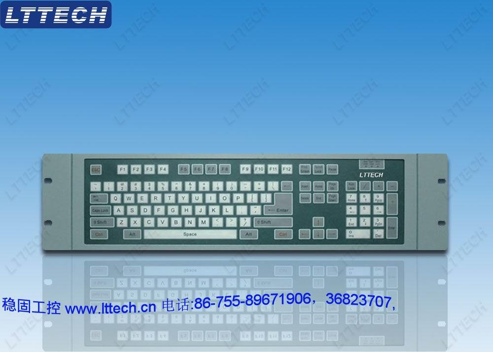 机架式工业键盘ikb105 机架式工业键盘ikb105是一款机架式操作终端,外观豪华,美观,结构坚固耐用,体积小,是计算机维护的理想设备。机架式工业键盘集成了超薄薄膜工业键盘,标准PS/2接口,3u高度,有效节省机架空间,模块化设计便于修复及更换维护作业,节省人力及时间资源。  工业键盘,机架式工业键盘,薄膜键盘,机器键盘,防尘防水防油三防键盘,薄膜键盘, 高强度结构钢精密制造,指触式薄膜键盘,防水防尘防油,抗敲击,使用寿命长,优异的防尘防水防油设计,适用于室内外、车间、工地等恶劣环境下环境内正常使用 整